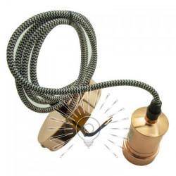 Підвіс металевий Lemanso 100*20мм + E27 рожеве золото 1.5м / LMA3217 для LED ламп Lemanso - 2