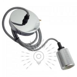 Подивись металевий Lemanso 100*20мм + E27 срібло 1.5м / LMA3218 для LED ламп Lemanso - 1