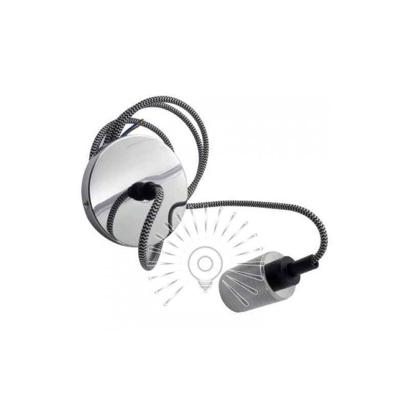 Подивись металевий Lemanso 100*20мм + E27 срібло 1.5м / LMA3218 для LED ламп Lemanso - 2