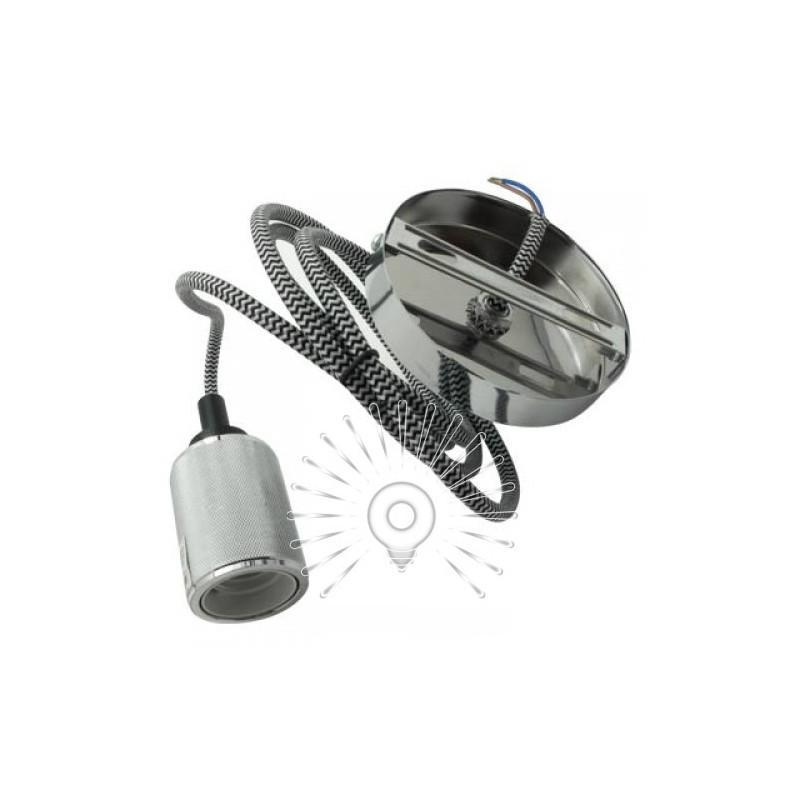 Подивись металевий Lemanso 100*20мм + E27 срібло 1.5м / LMA3218 для LED ламп Lemanso - 3