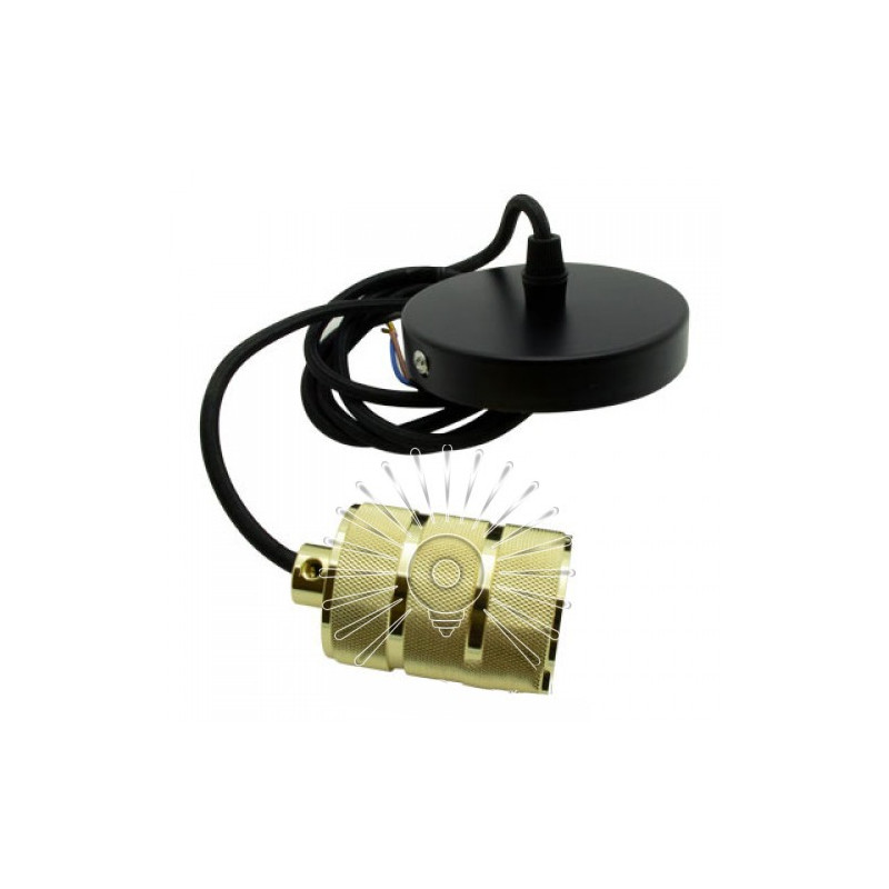 Підвіс металевий Lemanso 100 * 20мм + E27 франц.золото-чорний 1.5м / LMA3223 для LED ламп Lemanso - 1