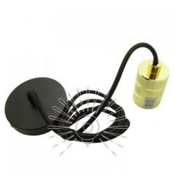 Підвіс металевий Lemanso 100 * 20мм + E27 франц.золото-чорний 1.5м / LMA3223 для LED ламп Lemanso - 2