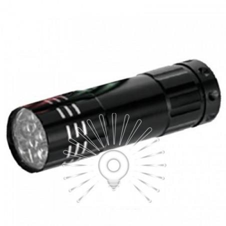 Ліхтарик LEMANSO 9 LED чорний / LMF29 алюміній Lemanso - 1