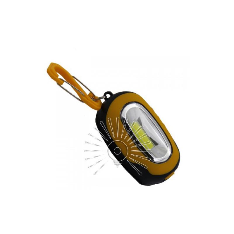 Ліхтарик - брелок LEMANSO 1W COB / LMF54 жовто-чорний Lemanso - 1