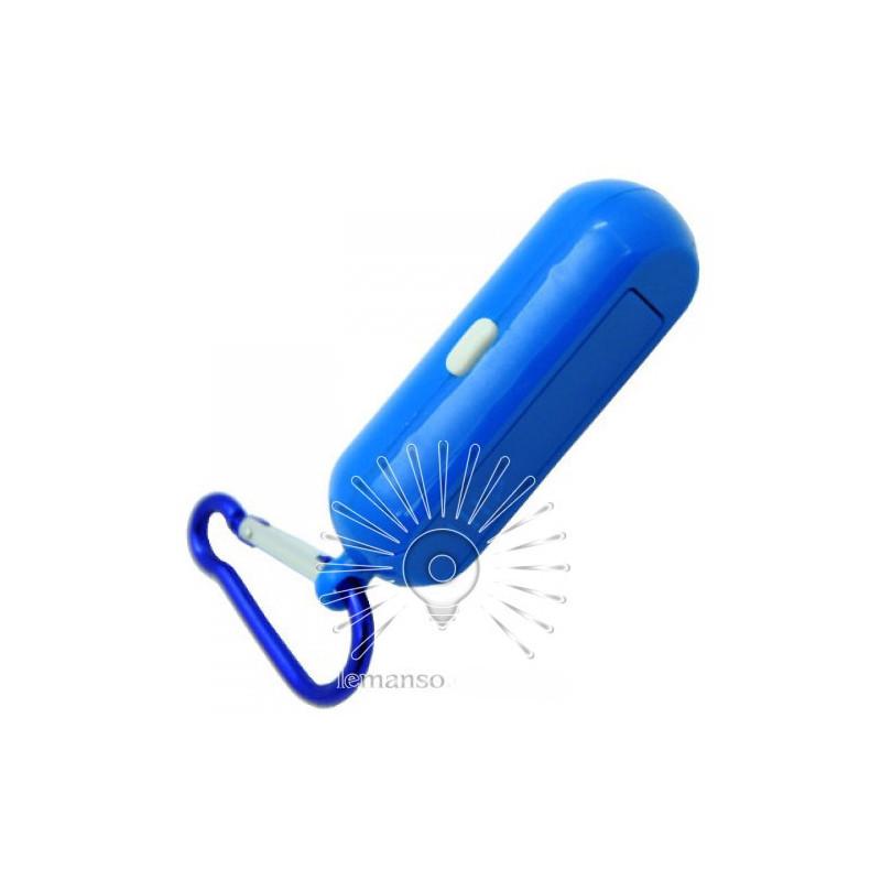 Ліхтарик - брелок LEMANSO COB з карабіном / LMF50 пластик синій Lemanso - 2