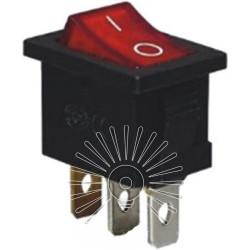 Перемикач Lemanso LSW05 малий червоний з підсв. / KCD1-101-2 Lemanso - 1