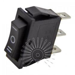 Переключатель Lemanso LSW18 узкий чёрный 3 положения с фикс. / KCD3-103 Lemanso - 1
