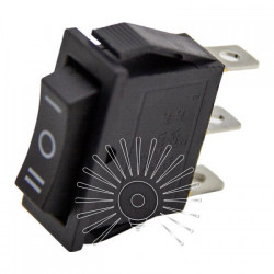 Перемикач Lemanso LSW18 вузький чорний 3 положення з фікс. / KCD3-103 Lemanso - 1