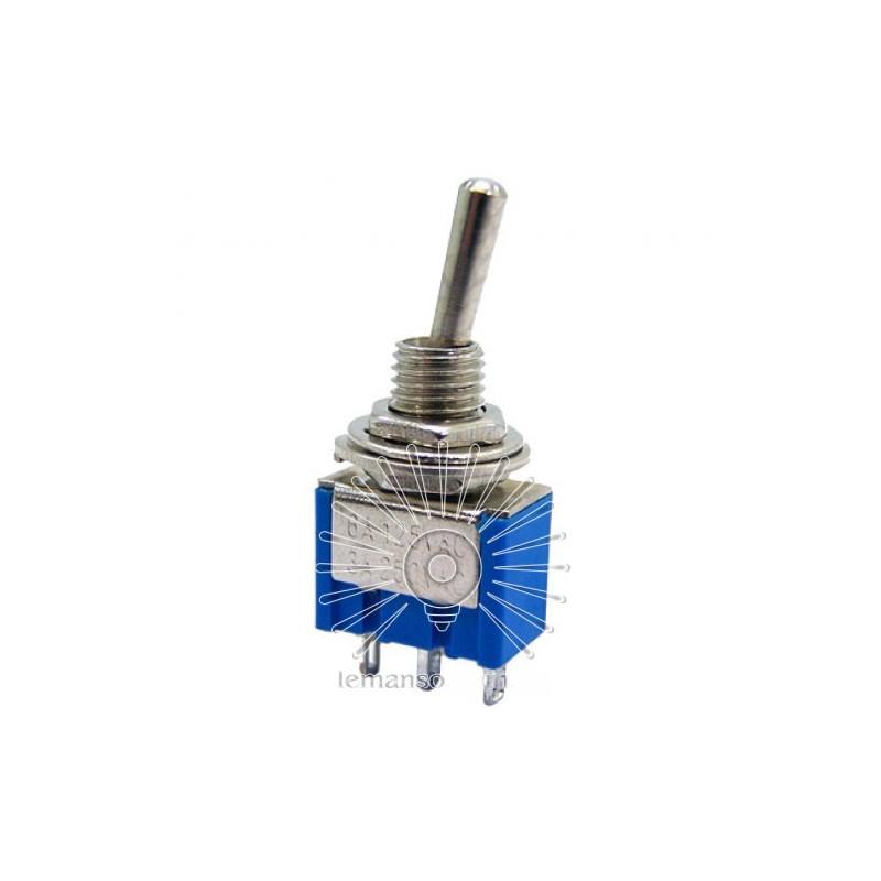 Тумблер Lemanso LSW28 3pin малий 3 полож. з фікс. / MTS-103 Lemanso - 1