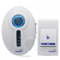 Звонок Lemanso 230V LDB45 белый с синим Lemanso - 1