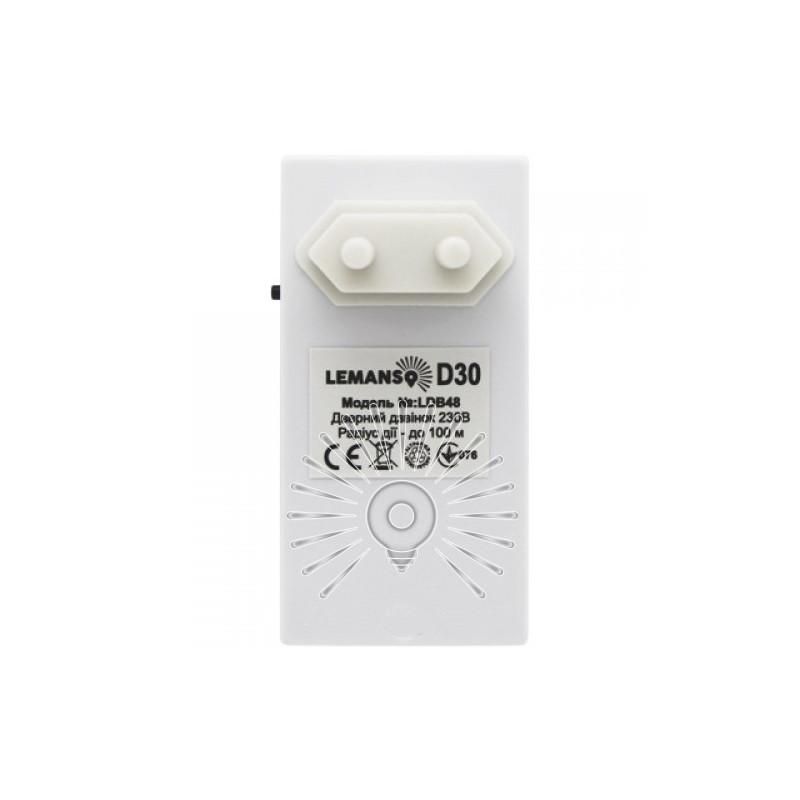 Дзвінок Lemanso 230V LDB48 білий з синім Lemanso - 3