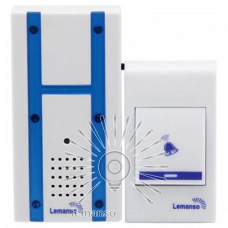 Дзвінок Lemanso 230V LDB48 білий з синім Lemanso - 1