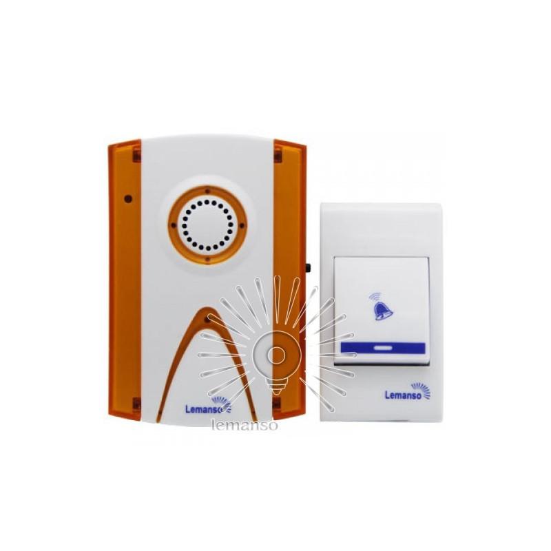 Звонок Lemanso 12V LDB43 белый с оранжевым Lemanso - 2