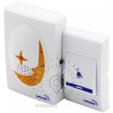 Дзвінок Lemanso 12V LDB40 білий з помаранчевим Lemanso - 1