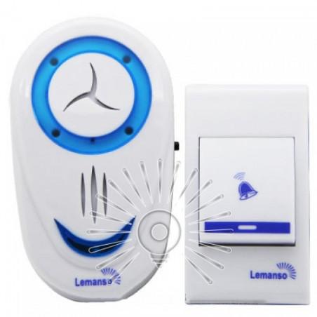Дзвінок Lemanso 230V LDB46 білий з синім Lemanso - 1