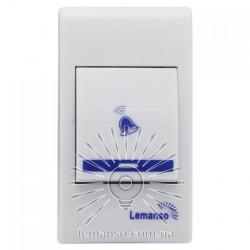 Дзвінок Lemanso 230V LDB46 білий з синім Lemanso - 4