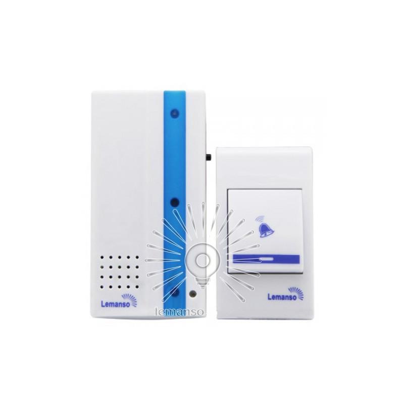 Звонок Lemanso 230V LDB49 белый с синим Lemanso - 1