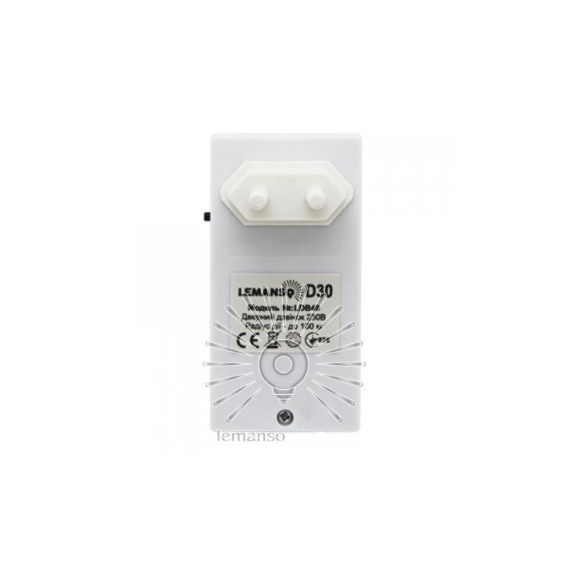 Дзвінок Lemanso 230V LDB49 білий з синім Lemanso - 3