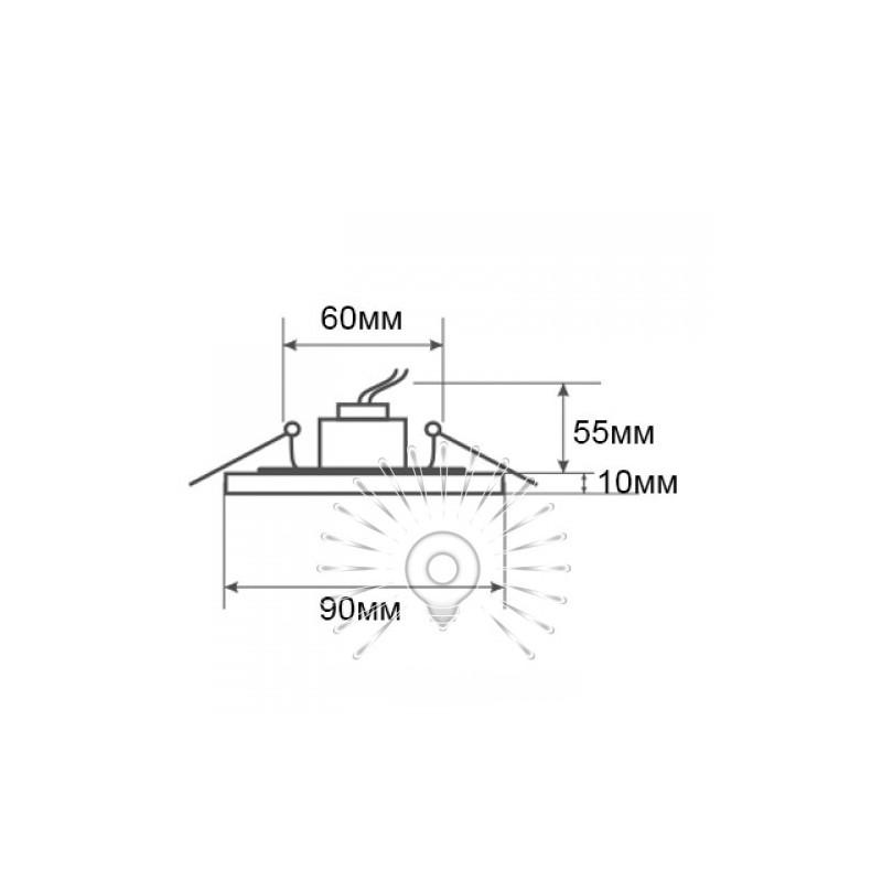 Спот Lemanso ST153 прозорий-хром GU5.3 Lemanso - 3