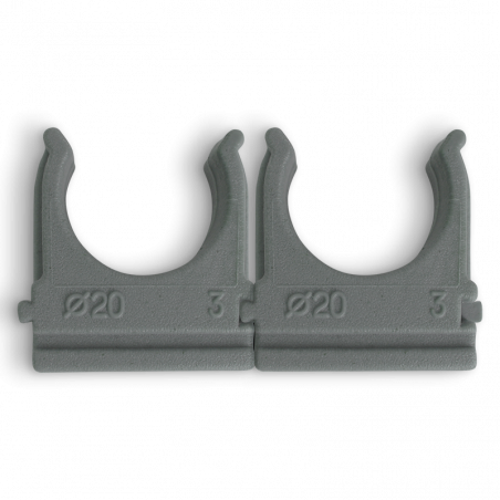 Кліпса Ziplex™ для гофротруби Ø20 сіра. 100 штук Ziplex - 1