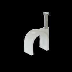 Скоба для круглого кабелю Ziplex ™ Ø12 біла. 100 штук Ziplex - 1