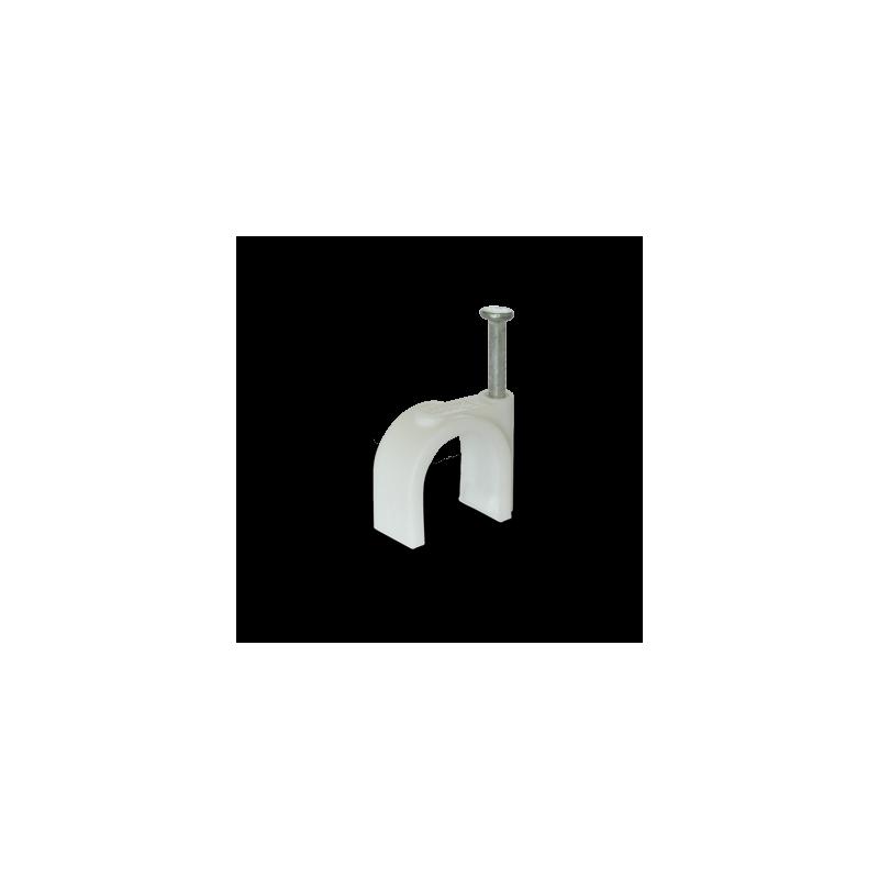 Скоба для круглого кабеля Ziplex™ Ø12 белая. 100 штук Ziplex - 1