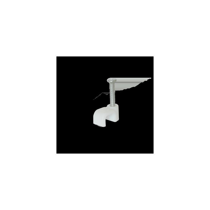 Скоба для плоского кабелю Ziplex ™ 5x3 біла Ziplex - 1
