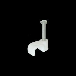 Скоба для плоского кабеля Ziplex™ 6x4 белая. 100 штук Ziplex - 1