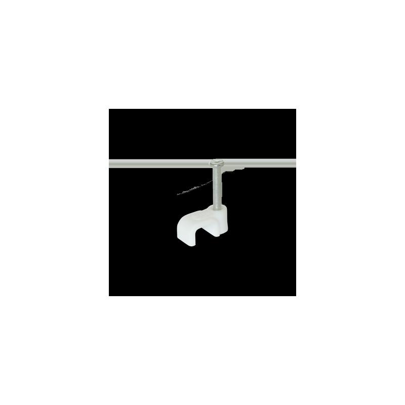 Скоба для плоского кабелю Ziplex ™ 6x4 біла. 100 штук Ziplex - 1