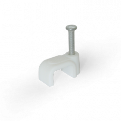 Скоба для плоского кабелю Ziplex ™ 8x4 біла. 100 штук Ziplex - 1