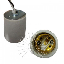 Патрон LEMANSO Е27 керамічний з проводами 50см / LM2518 Lemanso - 1