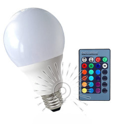 Лампа Lemanso светодиодная E27 RGB 5W 350LM с пультом 85-265V / LM734 Lemanso - 1