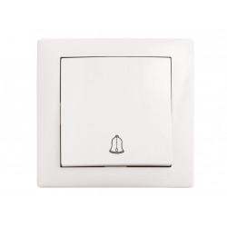 Вимикач DELUX WEGA 9026 звонок с подсветкой белый DELUX - 1
