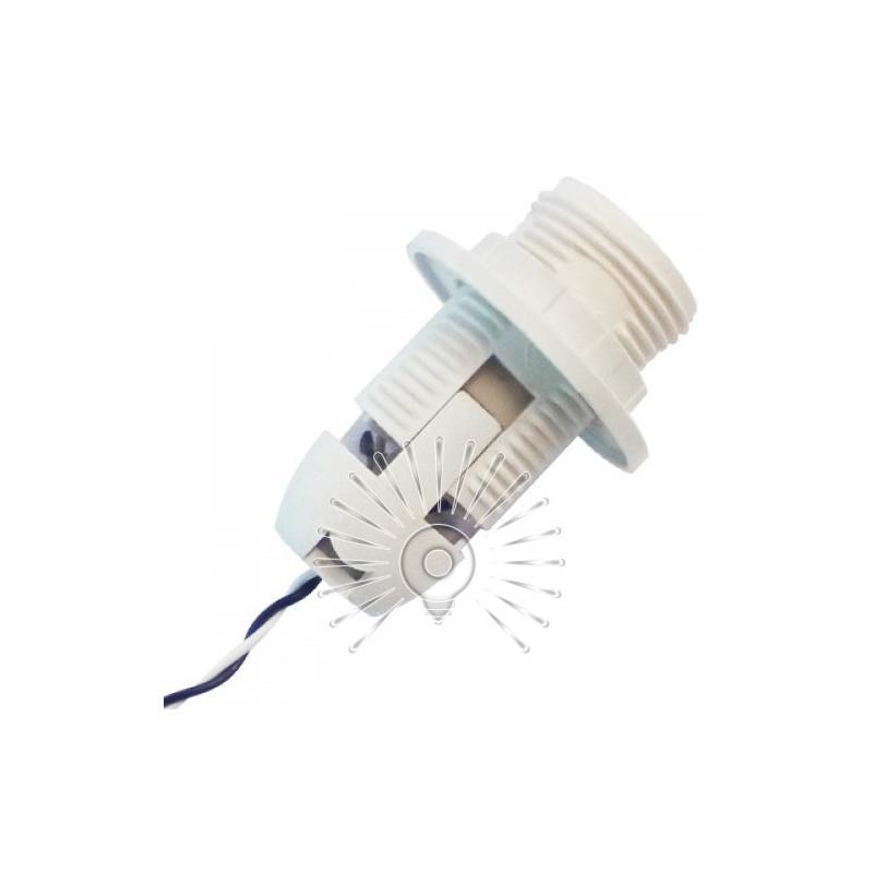 Патрон LEMANSO Е14 пластиковий / різьба + кільце / дроти 15 см / LM2510 Lemanso - 1