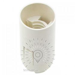 Патрон LEMANSO Е14 пластиковий / без різьби / білий / LM2508 Lemanso - 1