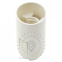 Патрон LEMANSO Е14 пластиковый / без резьбы / белый / LM2508 Lemanso - 1