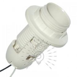 Патрон LEMANSO Е27 пластиковый / резьба+кольцо / провода 15 см / LM2513 Lemanso - 1