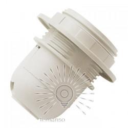 Патрон Е27 пластиковый с резьбой и упорной юбкой Lemanso белый / LM2503 Lemanso - 1