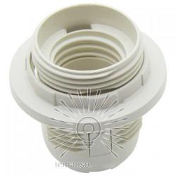 Патрон LEMANSO Е27 пластиковый / резьба+кольцо / белый / LM2512 (LM105) Lemanso - 1