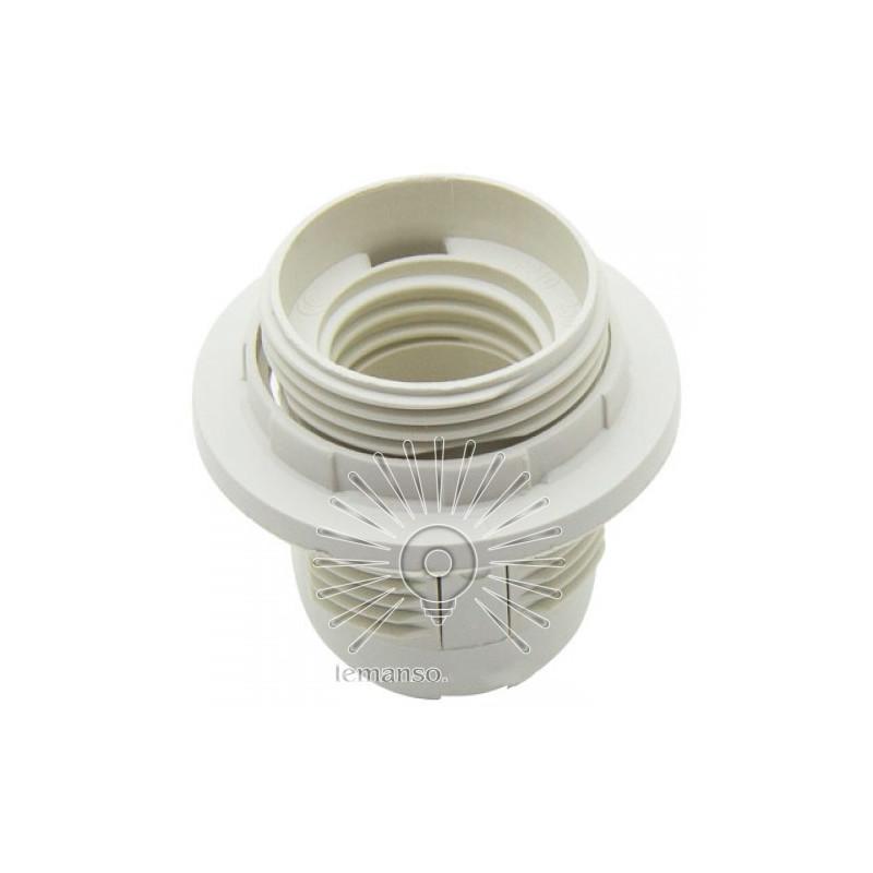 Патрон LEMANSO Е27 пластиковий / різьба+кільце / білий / LM2512 Lemanso - 1