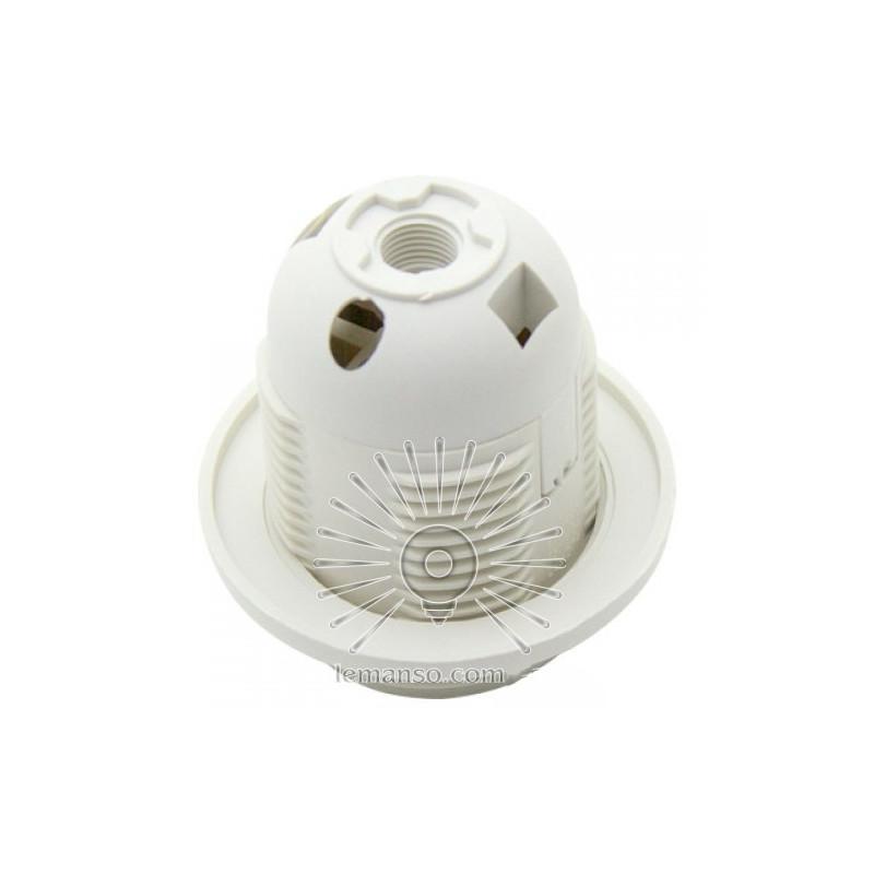 Патрон LEMANSO Е27 пластиковий / різьба+кільце / білий / LM2512 Lemanso - 2