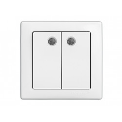 Выключатель DELUX WEGA 9123 2-кл. с подсветкой DELUX - 1