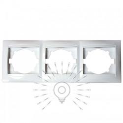 Рамка 3-я LEMANSO Сакура белая горизонтальная LMR1012 Lemanso - 1