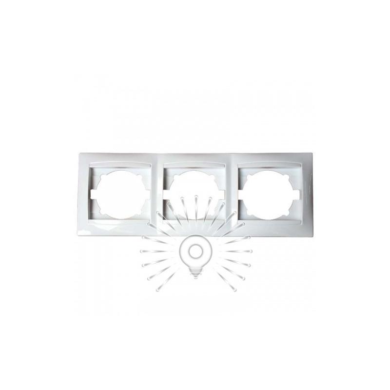 Рамка 3-тя LEMANSO Сакура біла горизонтальна LMR1012 Lemanso - 1