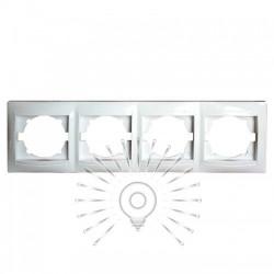 Рамка 4-я LEMANSO Сакура белая горизонтальная LMR1013 Lemanso - 1
