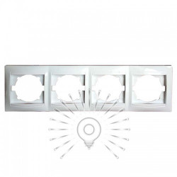 Рамка 4-я LEMANSO Сакура біла горизонтальна LMR1013 Lemanso - 1