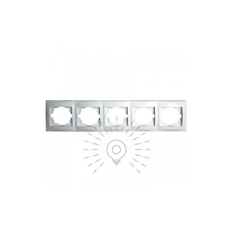Рамка 5-я LEMANSO Сакура біла горизонтальна LMR1031 Lemanso - 1