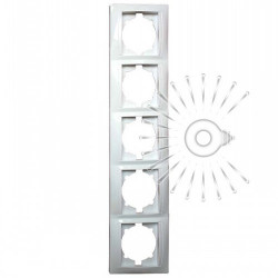 Рамка 5-я LEMANSO Сакура белая вертикальная LMR1035 Lemanso - 1