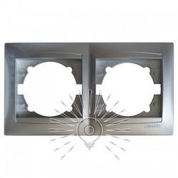 Рамка 2-а LEMANSO Сакура срібло горизонтальна LMR1311 Lemanso - 1