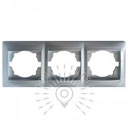 Рамка 3-я LEMANSO Сакура серебро горизонтальная LMR1312 Lemanso - 1